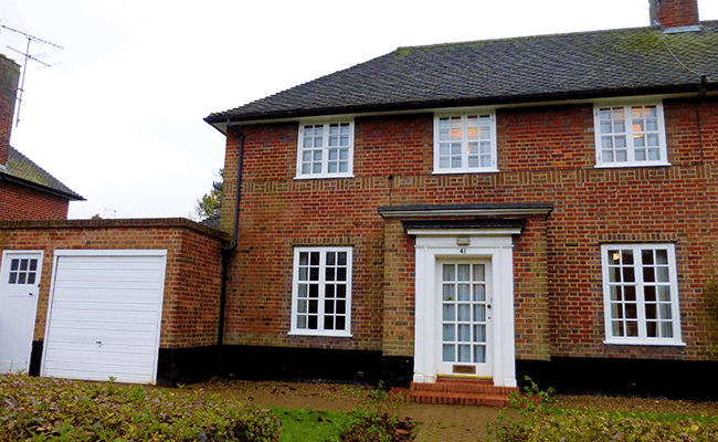 Semi-detached brick property near Watford