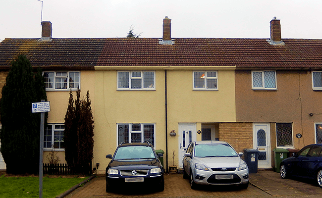 Terraced homes near Watford