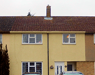 Terraced properties near Watford